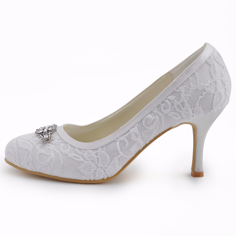 Women High Heel Shoes Wedding Platform Navy Blue Cross Strap crystal Satin  prom party Bridal Pumps EP11085 Silver white ivory USD 47.59 pair ... 10ce6ae17378