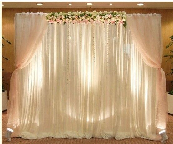 Us 135 0 3mx6m White Ice Silk Backdrop Curtain With Swag For Wedding Festival Party Banquet Event In Party Diy Decorations From Home Garden On