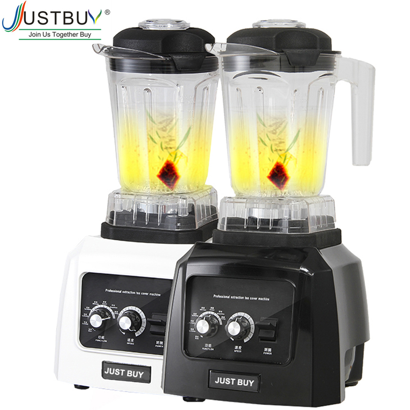 Commercial Milk Tea Ice Smoothie Grain Blender Food Processor With Timer