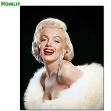 5D full drill diamond embroidery Marylin Monroe Diamond Painting Cross Stitch Needlework Rhinestone mosaic decoration painting