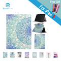 For Apple iPad Air iPad 5 Case Flower Print Stand Design PU Leather Magnetic Cover Case for iPad Air 1 Shell Full Protect Case