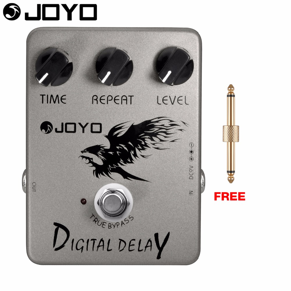 JOYO Digital Delay Electric Guitar Effect Pedal True Bypass Well-made Filter Circuit JF-08 with Free Connector joyo jf 317 space verb digital reverb mini electric guitar effect pedal with knob guard true bypass