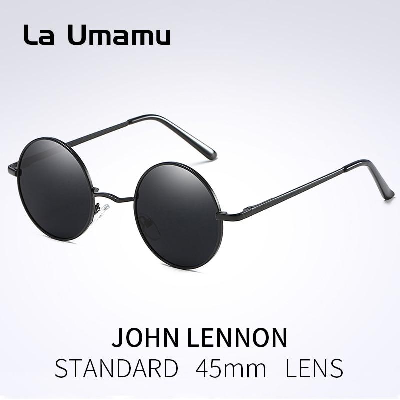 2018 New Classic Polarized Round Sunglasses Men Small Vintage Retro Mirror John Lennon Glasses Women Driving Metal Eyewear Brand