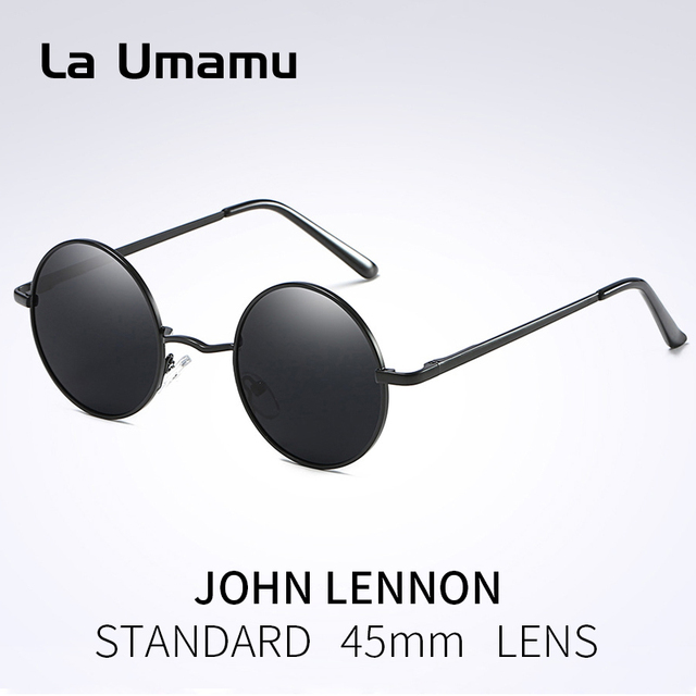 eea0695f4f 2018 New Classic Polarized Round Sunglasses Men Small Vintage Retro Mirror John  Lennon Glasses Women Driving Metal Eyewear Brand