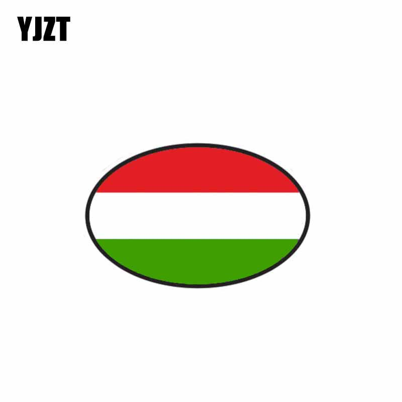 YJZT 11CM*7CM Car Styling Hungary Car Sticker Country Code Funny Decal 6-0474