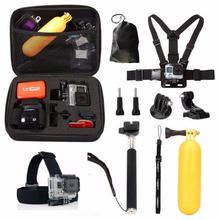 10 в 1 Go Pro Набор аксессуаров для GoPro Hero 7 6 5 4 sessession 3+ 3 Xiaomi Yi комплект аксессуаров для спортивной камеры