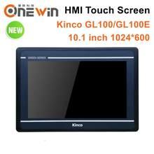 Kinco gl100 gl100e hmi tela sensível ao toque 10.1 polegada 1024*600 ethernet 1 usb host nova interface de máquina humana rs232 rs422 rs485
