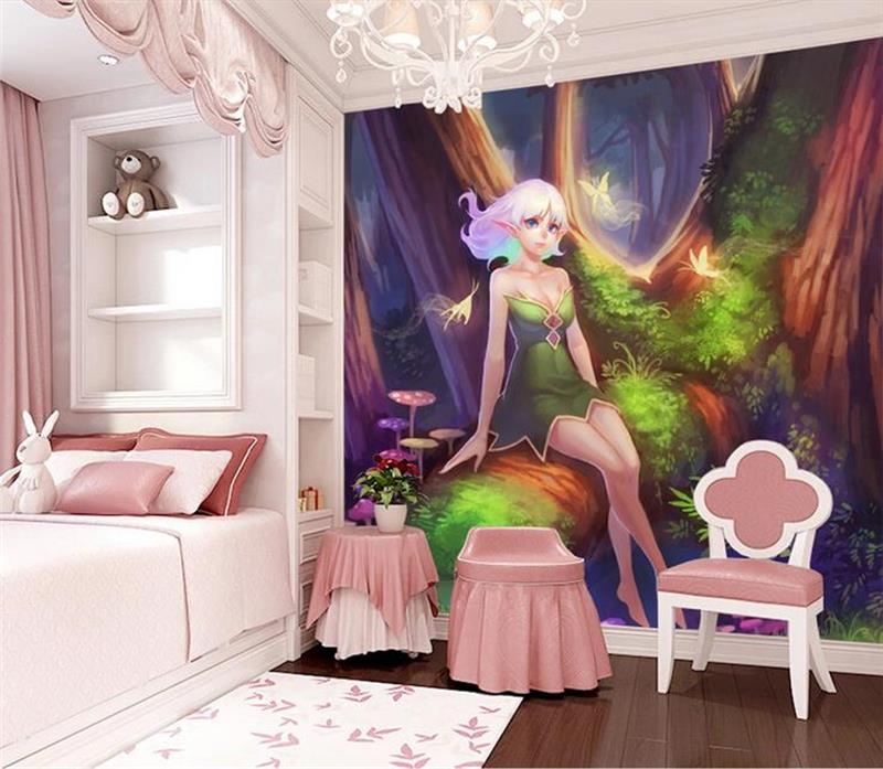 3d Room Wallpaper Custom Photo MuralS Non Woven Wall Sticker World Fairy  Forest Kidsu0027 Room Wall Murals Wallpaper For Walls 3d
