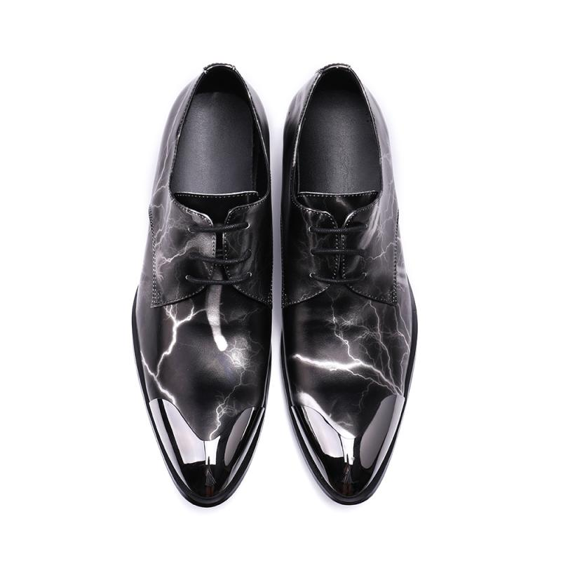 italian shoes men steel toe zapatos hombre men spike shoes black suit brands dress wedding shoes loafers genuine leather in Formal Shoes from Shoes