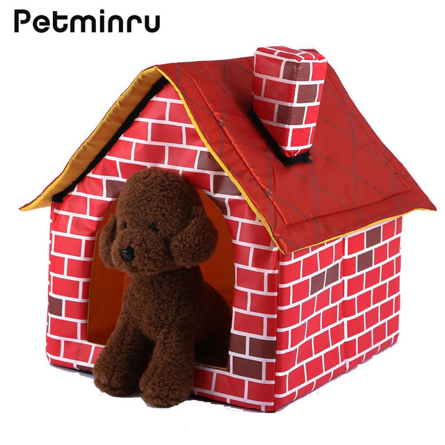 Petminru Removable Dog House Nest Cat Rabbit Bed Kennel Small Dogs Pet  Sofas Pet Bed Tent