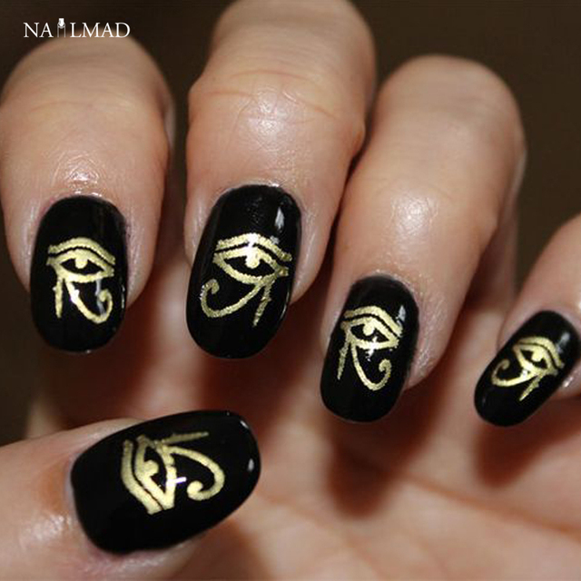 1 sheet NailMAD Horus Egyptian Nail Art Sticker Egyptian Eye of Horus 3D  Nail Sticker Sphinx - 1 Sheet NailMAD Horus Egyptian Nail Art Sticker Egyptian Eye Of