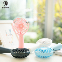 Baseus Protable Handheld Fan 3 Speed Mini USB Rechargeable Fan With 1500mAh Powerbank Battery Quiet Desktop