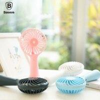 Baseus Protable Handheld Fan 3 Speed Mini USB Rechargeable Fan With 1500mAh Powerbank Battery Quiet Desktop
