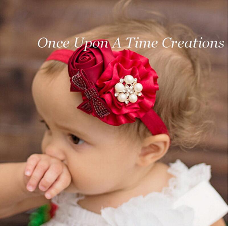 JRFSD 2018 ruční práce perla Fotoaparát Fotografie 4 Flower Čelenka Široký vlasový pás Čelenka do vlasů Příslušenství pro dívky