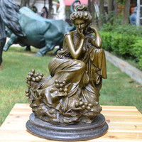 Bronze Statue Goddess Rose Ornaments Crafts Jewelry Gift Home Furnishing Study Buildings Tools Lighter Wedding Decoration