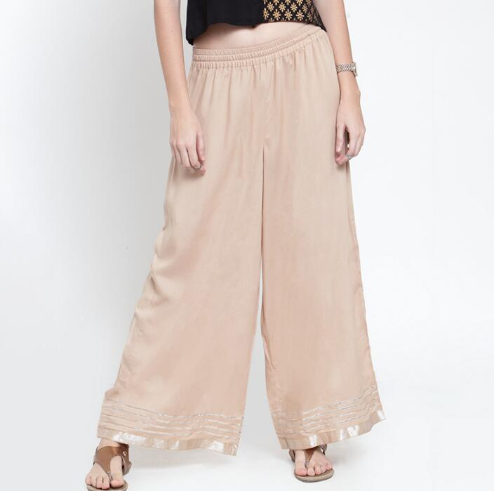 New Cotton India Traditional Woman  Broad-legged Trousers Ethnic Style Spring Summer Bottom Pants