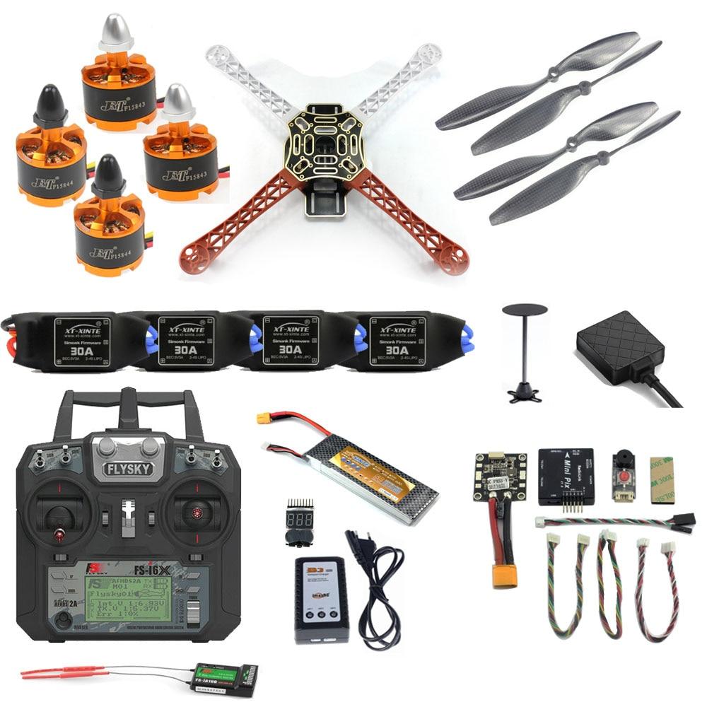 DIY Full F450 Drone Kit 2.4G 10CH Remote Control Quadcopter Radiolink Mini PIX M8N GPS PIXHAWK Altitude Hold FPV Upgrade(China)