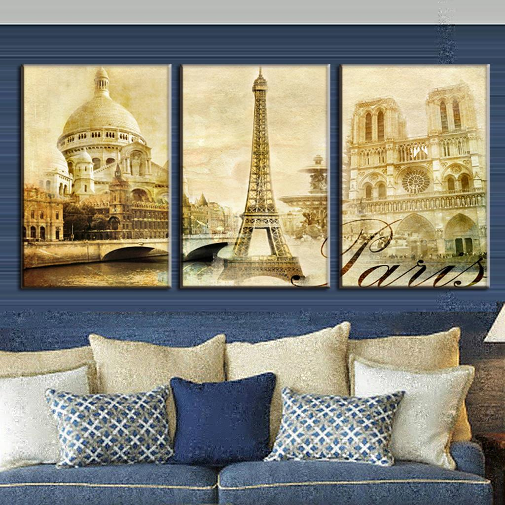 DIY frame Paris City Eiffel Tower, Sky, Boat Urban Landscape Scenery ...