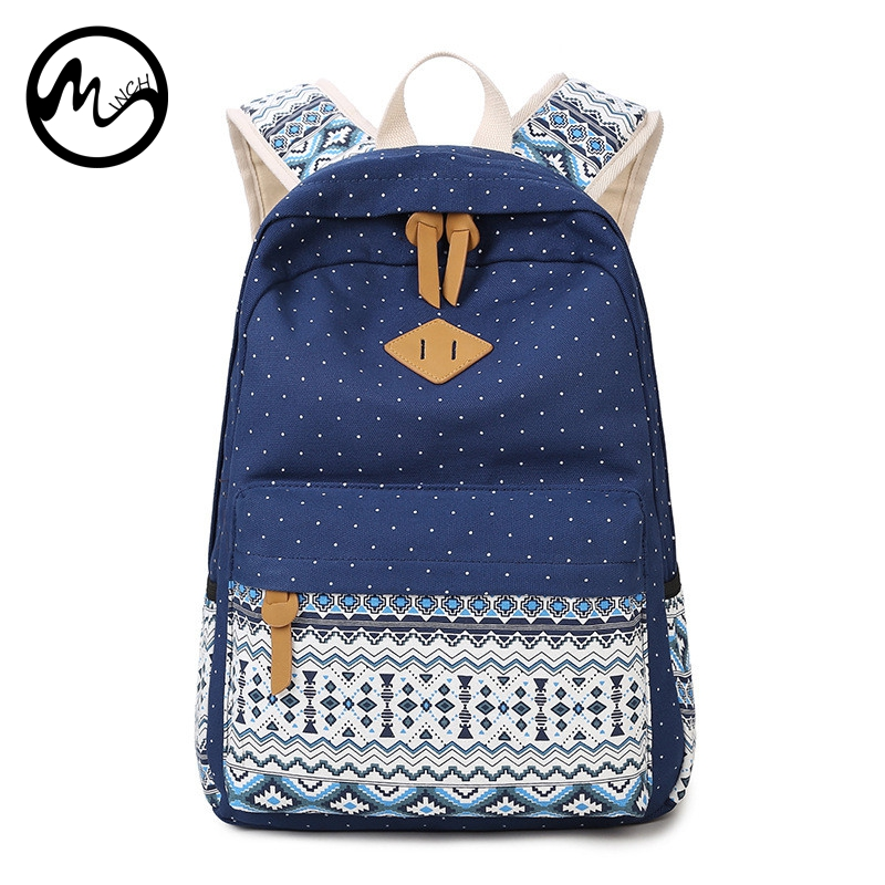 c6ee9119b69 MINCH Cute Unisex School Bag Casual Style Lightweight Canvas Laptop  Backpack High Quality