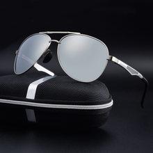 Óculos de sol polarizados de alumínio homem aviação óculos de sol óculos de sol masculino zonnebril mannen lunette soleil homme