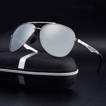 cef1c05140ee2 Polarizada Óculos De Sol Dos Homens de alumínio aviação Sun Glases oculos  aviador de sol masculino zonnebril mannen luneta soleil homme