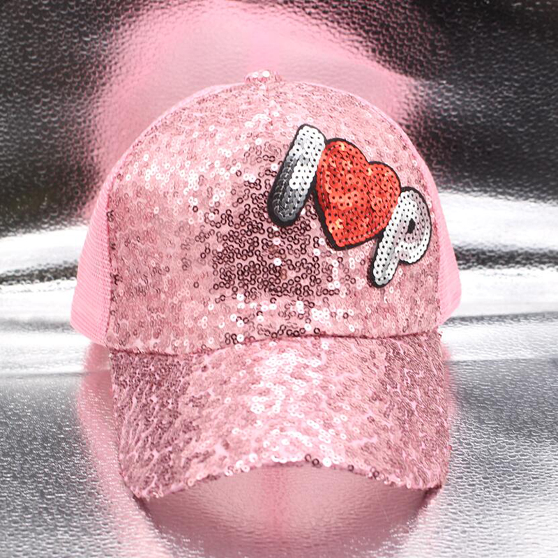 SUOGRY Summer Women 39 s Baseball Cap Sequin Mesh Cap Adjustable Fashion Hat Snapback Letter Paillette Adjustable Summer Gorras in Men 39 s Baseball Caps from Apparel Accessories