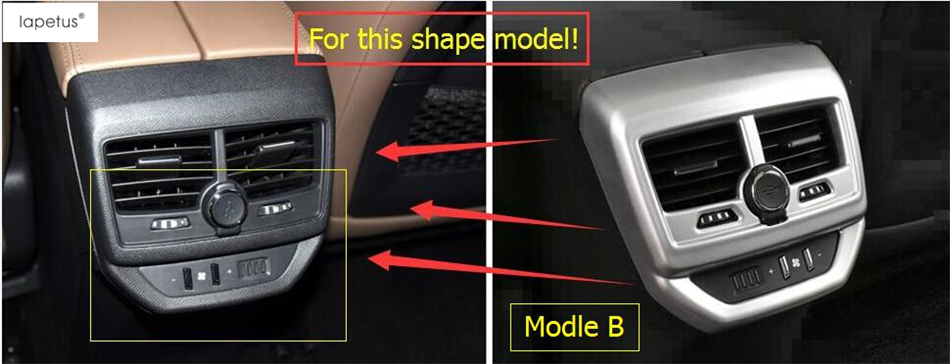 Accessories For Peugeot 3008 3008GT 2017 2018 Armrest Box Rear Air Conditioning AC Vent Outlet Molding