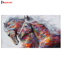 HUACAN Diamond Painting Horse Kits Handmade Needlework DIY Diamond Embroidery Animal Rhinestone Mosaic Picture