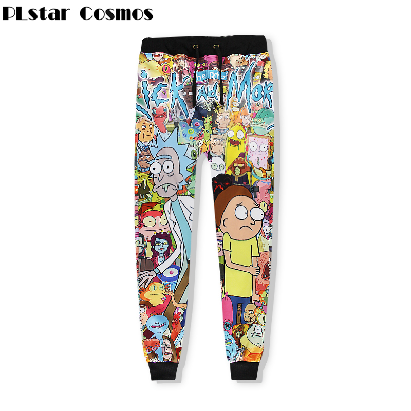 PLstar Cosmos Funny Cartoon Figure Rick And Morty 3d Print Fashion Sweat Pants For Women/Men Casual Crewneck Joggers Pants