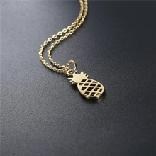 2019 Hot Selling Necklace Simple Clavicle Pineapple plated Necklaces For Female jewelry environmentally copper pendant necklaces