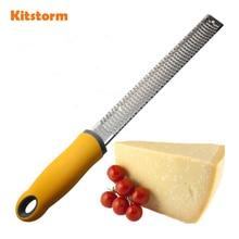 Multifuncional de Acero Inoxidable Fondue de queso rallador Rallador de Limón/mango antideslizante y Resistente Hoja