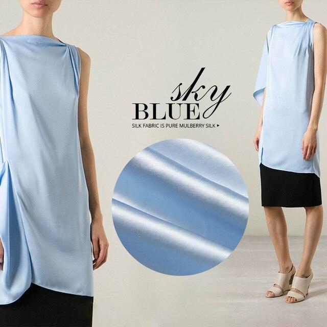 dc6dadba404 53mm ciężki jedwab tkanina błękitny suknia suknia garnitur tkaniny lniane  tkaniny jedwabne tkaniny lniane starszy hurtowych