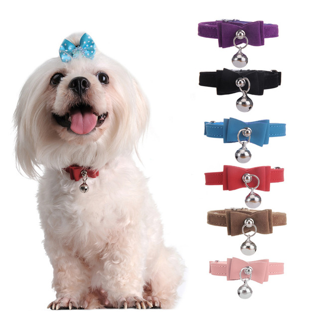 Must see Collar Bow Adorable Dog - New-Fashion-Metal-Bell-Bow-Tie-Cute-Dog-Collars-for-Dogs-High-Grade-Flocking-Bow-Knot  Collection_403828  .jpg