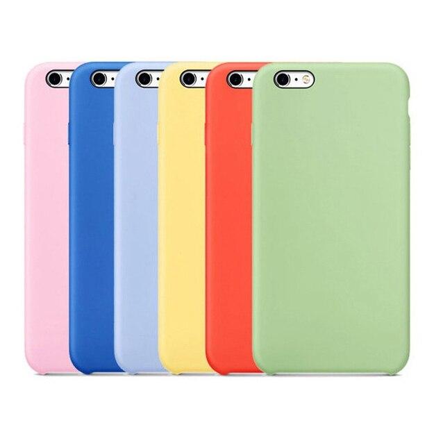Original Liquid Silicone High Quality Phone Case Ultra Slim Cover For IPhone 6 6s Plus 7