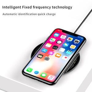 Image 2 - IPhone 11 Pro Max X 용 Baseus Qi 무선 충전기 삼성 S9 무선 충전 충전기 패드 용 유리 패널 무선 충전 패드