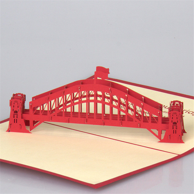 3d laser cut handmade sydney harbour bridge paper invitation 3d laser cut handmade sydney harbour bridge paper invitation greeting cards post card business birthday creative colourmoves