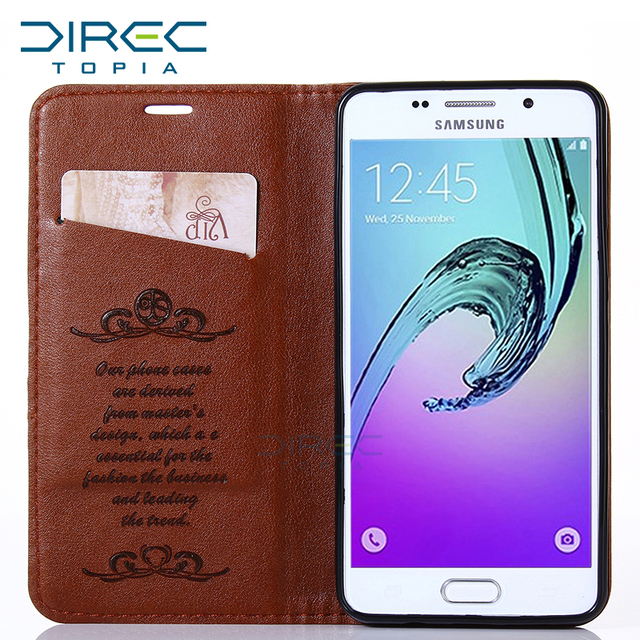 Fashion Luxury Leather Phone Flip Cases Cover For Samsung Galaxy A3 2016 A310 case Android Smartphone Mobile Phone Bag Celular