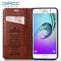 Moda casos de telefone de luxo de couro flip caso capa para samsung galaxy a3 2016 a310 android smartphone saco do telefone móvel celular