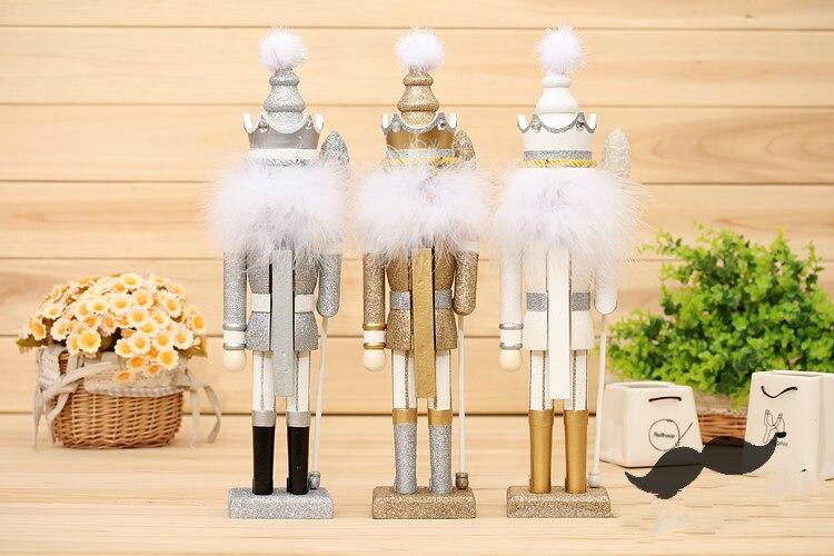 42 cm casse-noisette marionnette bois artisanat 35 cm décoration en bois Vintage décor à la maison décoration de noël - 3