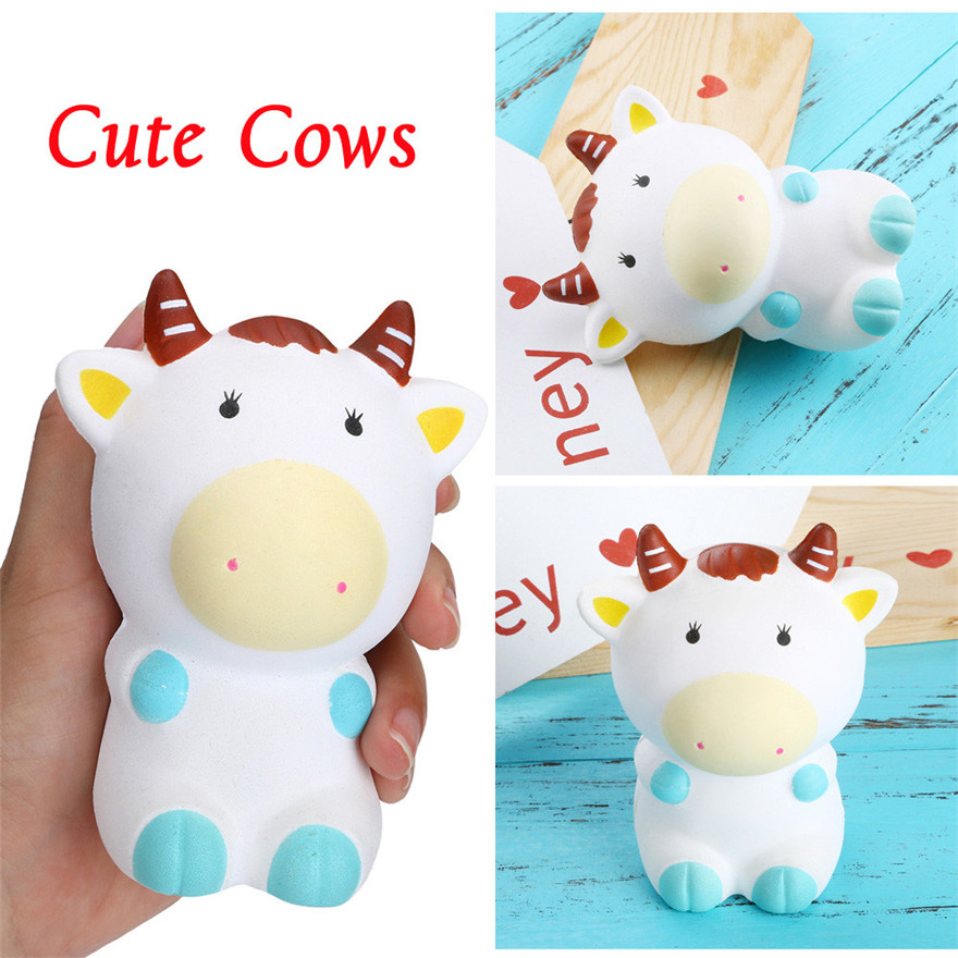 Squishy Toy Squishies Jumbo Yummy Cattle Cake Slow Rising Squeeze Stress Reliever Charm Toy Gift Wholesale MAY 17
