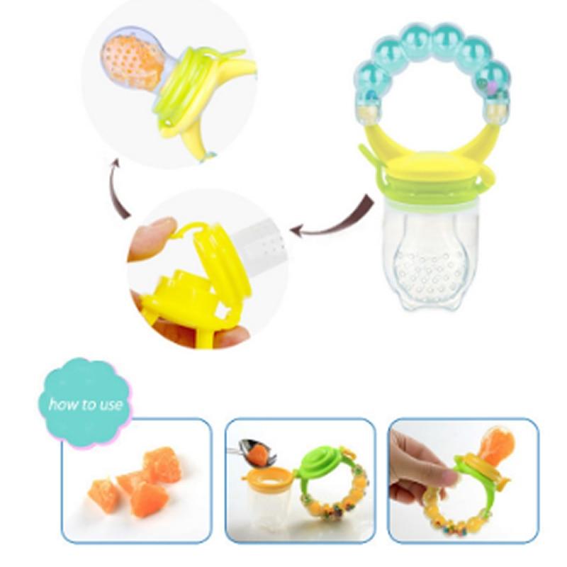 Chupete seguro de alimentación de bebé chupete alimentador de frutas y verduras herramienta de alimentación para niños alimentador de alimentos frescos juguete de campana