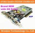 50pcs Free Shipping  via DHL /EMS for NEW GeForce FX5500 256MB DDR AGP 4X 8X VGA DVI Video Card