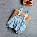 Crianças babys shorts Jeans Suspender (pode escolher o tamanho)