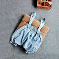 Kids babys Denim Suspender shorts ( can pick size )
