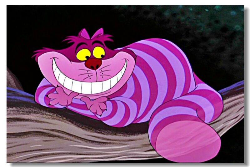 Алиса в стране чудес мультфильм с чеширским котом