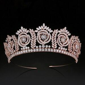 Image 2 - Tiara S En Kronen Mode Elegante Bruids Kronen Voor Vrouwen Huwelijkscadeau Haaraccessoires BC4847 Haar Sieraden Corona Princesa
