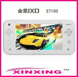 10 pcs/lot  Brand JXD S7100 7inch Capacitive Touch Screen Android Gaming Tablet PC Game Player & WiFi Free shipping EMS or DHL