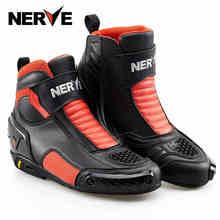 Brand NERVE Winter Motorcycle Riding Short Boots Crashproof Leather Motociclista Bota Moto Motocross Racing Waterproof Shoes