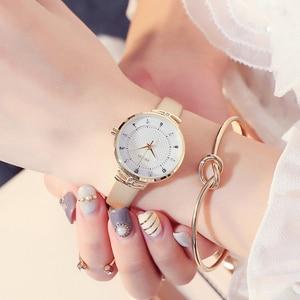 Image 3 - Часы KEZZI женские с кожаным ремешком, брендовые Простые Модные маленькие Кварцевые водонепроницаемые наручные, с кристаллами