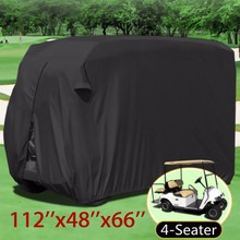 4-Seater Passengers Golf Cart Cover Oxford Waterproof Club Car Roof Enclosure Covers Golf Storage Zippered 285X122X168cm